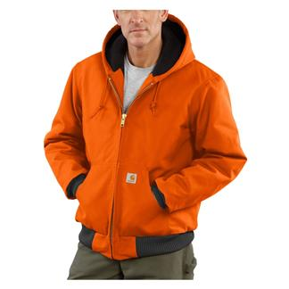 Carhartt Quilted Flannel Lined Duck Active Jacket Blaze Orange