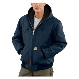 Carhartt Quilted Flannel Lined Duck Active Jacket Dark Navy