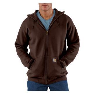 Carhartt Midweight Front Zip Hoodie Dark Brown