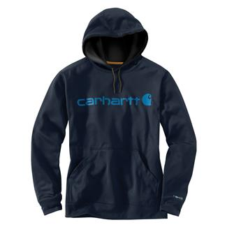 Carhartt Force Extremes Signature Logo Hoodie Navy