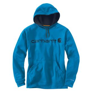Carhartt Force Extremes Signature Logo Hoodie Dynamic Blue