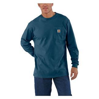 Carhartt Long Sleeve Workwear Pocket T-Shirt Stream Blue