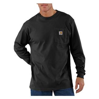 Carhartt Long Sleeve Workwear Pocket T-Shirt Black