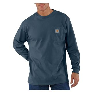 Carhartt Long Sleeve Workwear Pocket T-Shirt Bluestone
