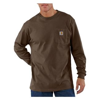 Carhartt Long Sleeve Workwear Pocket T-Shirt Dark Brown