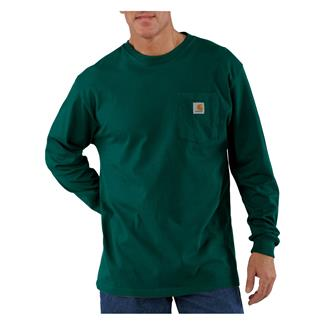 Carhartt Long Sleeve Workwear Pocket T-Shirt Hunter Green