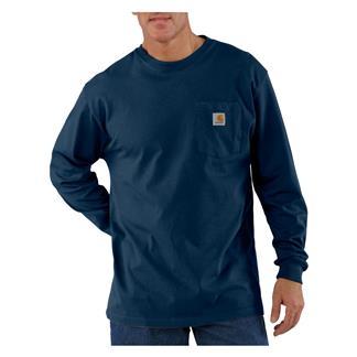 Carhartt Long Sleeve Workwear Pocket T-Shirt Navy