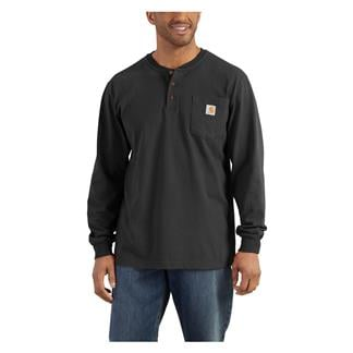 Carhartt Long Sleeve Workwear Pocket Henley Black