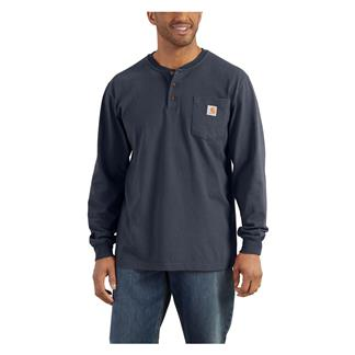 Carhartt Long Sleeve Workwear Pocket Henley Bluestone