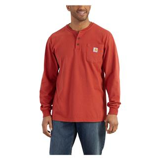 Carhartt Long Sleeve Workwear Pocket Henley Chili