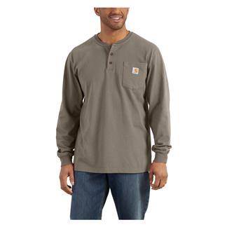 Carhartt Long Sleeve Workwear Pocket Henley Desert