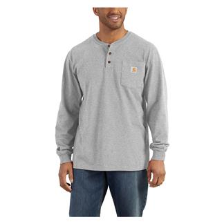 Carhartt Long Sleeve Workwear Pocket Henley Heather Gray