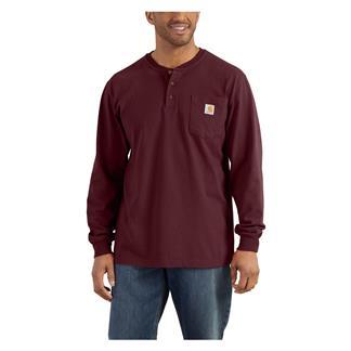 Carhartt Long Sleeve Workwear Pocket Henley Port
