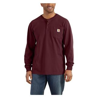Carhartt Long Sleeve Workwear Pocket Henley Port