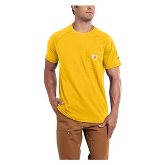 Carhartt Force Delmont T-Shirt Mustard Yellow