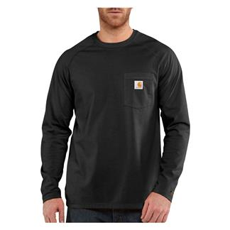 Carhartt Long Sleeve Force Delmont T-Shirt Black
