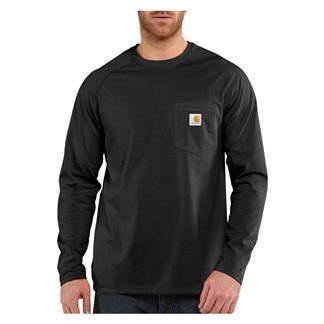 Carhartt Long Sleeve Force Delmont T-Shirt Black