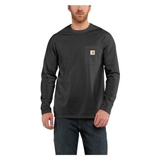 Carhartt Long Sleeve Force Delmont T-Shirt Carbon Heather