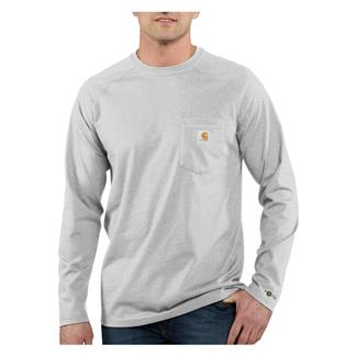 Carhartt Long Sleeve Force Delmont T-Shirt Heather Gray