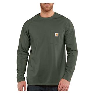 Carhartt Long Sleeve Force Delmont T-Shirt Moss