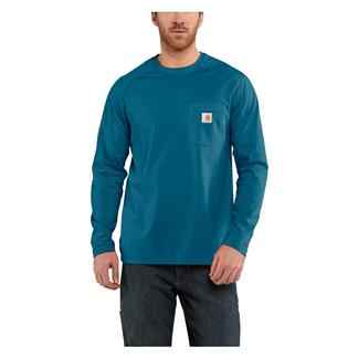 Carhartt Long Sleeve Force Delmont T-Shirt Bay Harbor
