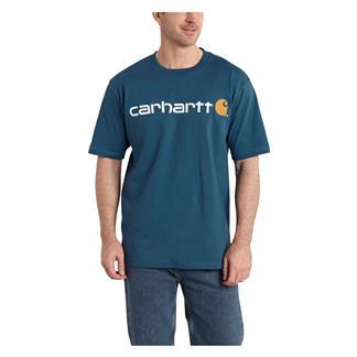 Carhartt Logo T-Shirt Stream Blue