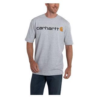 Carhartt Logo T-Shirt Heather Gray