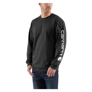 Carhartt Long Sleeve Logo T-Shirt Black