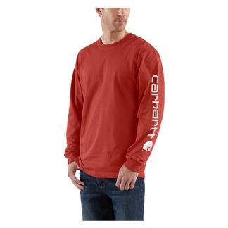 Carhartt Long Sleeve Logo T-Shirt Chili