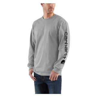 Carhartt Long Sleeve Logo T-Shirt Heather Gray