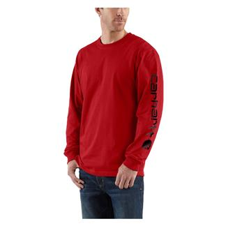 Carhartt Long Sleeve Logo T-Shirt Red