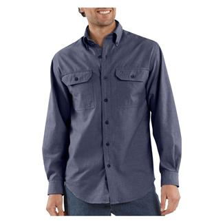 Carhartt Long Sleeve Fort Solid Shirt Denim Blue Chambray