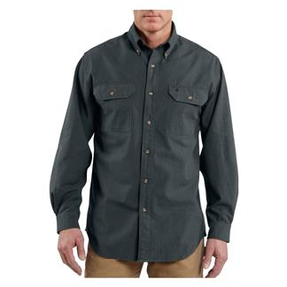 Carhartt Long Sleeve Fort Solid Shirt Black Chambray