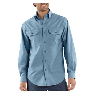 Carhartt Long Sleeve Fort Solid Shirt Blue Chambray