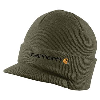 Carhartt Knit Hat With Visor Army Green