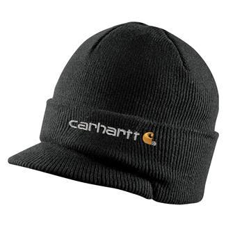 Carhartt Knit Hat With Visor Black