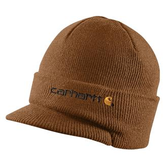 Carhartt Knit Hat With Visor Carhartt Brown
