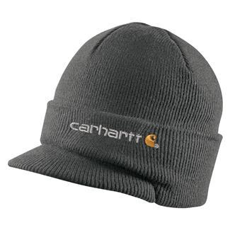 Carhartt Knit Hat With Visor Coal Heather