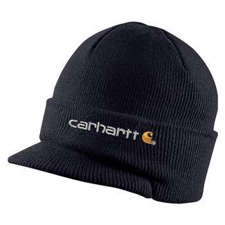 Carhartt Knit Hat With Visor Navy