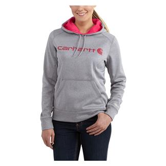Carhartt Force Extremes Signature Logo Hoodie Asphalt Heather