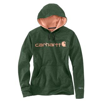 Carhartt Force Extremes Signature Logo Hoodie Forest Green Heather