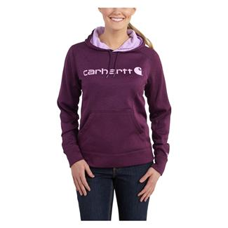 Carhartt Force Extremes Signature Logo Hoodie Potent Purple Heather