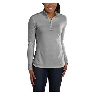 Carhartt Force 1/4 Zip Shirt Asphalt Heather