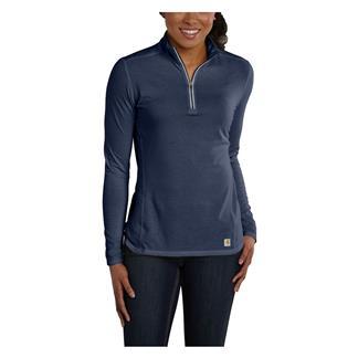 Carhartt Force 1/4 Zip Shirt Indigo Heather