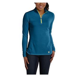 Carhartt Force 1/4 Zip Shirt Island Blue Heather