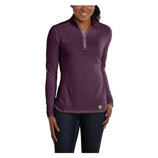Carhartt Force 1/4 Zip Shirt Potent Purple Heather