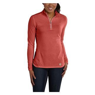 Carhartt Force 1/4 Zip Shirt Wild Rose Heather