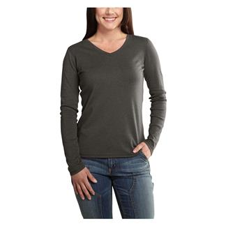 Carhartt Long Sleeve Calumet V-Neck T-Shirt Dark Shale Heather