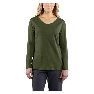 Carhartt Long Sleeve Calumet V-Neck T-Shirt Grape Leaf Heather