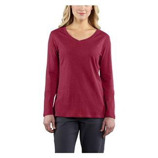 Carhartt Long Sleeve Calumet V-Neck T-Shirt Raspberry Heather